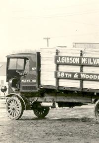 1925 J Gibson McIlvain lumber truck
