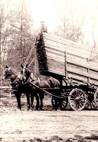Horse drawn lumber