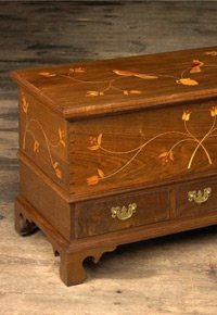Walnut chest