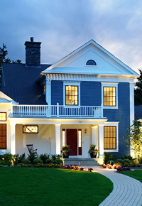 NuCedar blue siding