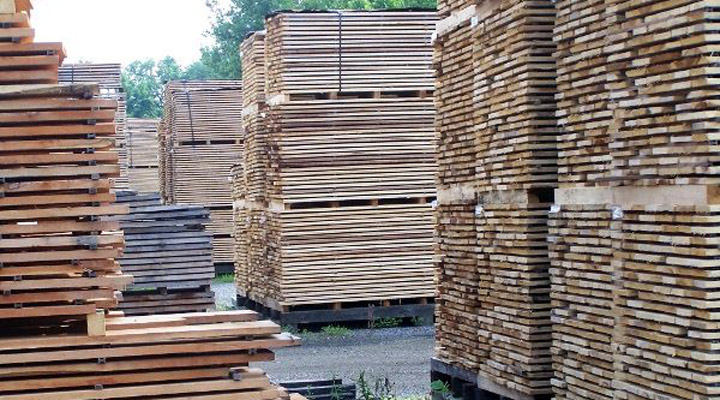 Lumber air drying at J Gibson McIlvain
