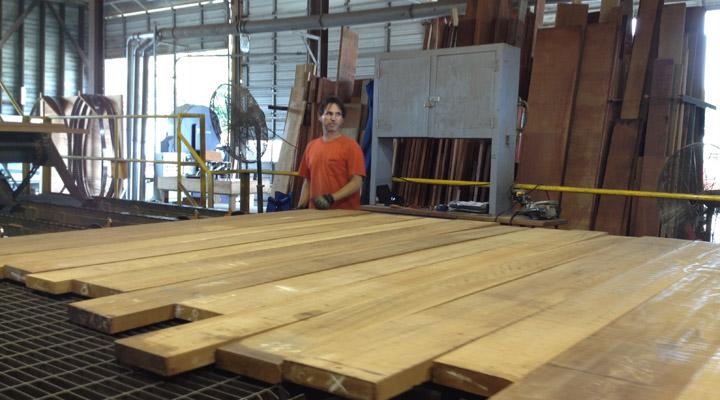 Working at J Gibson McIlvain lumber yard