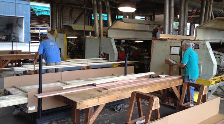 J Gibson McIlvain lumberyard workers