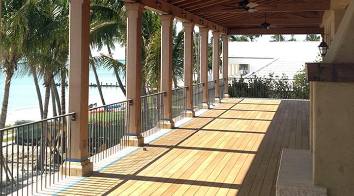 teak porch floor